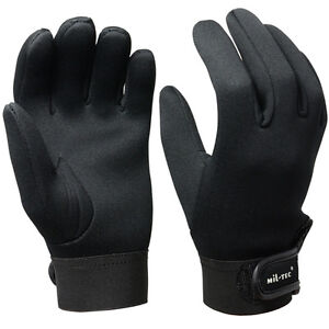 Black neoprene gloves all sizes 3mm cold wet winter for Winter fishing gloves