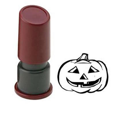 Halloween Pre Inked Rubber Stamp - HAPPY PUMPKIN - Happy Pre Halloween