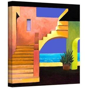 Art Wall Casa del Mar Gallery Wrapped Canvas 24x24pouces