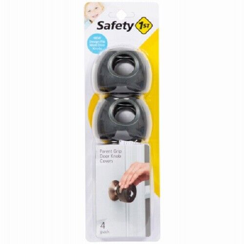 Safety 1st, 4 Pack, Charcoal, Parent Grip Door Knob Covers