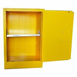Safety Storage Cabinet For Flammable Liquids 12 Gal Capacity 1 Manual Doors