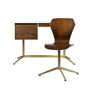 modern herman miller style desk and chair retro mod vintage 1960s