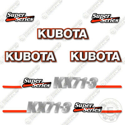Kubota Kx71-3 Decal Kit Mini Excavator Replacement Decals Kx 71-3