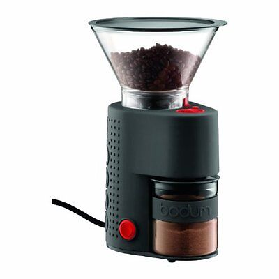 Bodum Bistro Electric Burr Coffee Grinder, Black, New, Free Shipping