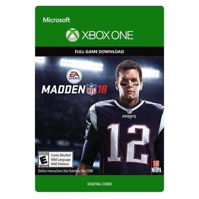 Madden Nfl Football 18   Xbox One Digital Game Download   Key  Same Day Delivery