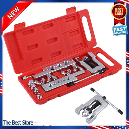 Heavy Duty Steel Tubing Flaring & Swaging Tool Kit 45°Traditional Extrusion Type
