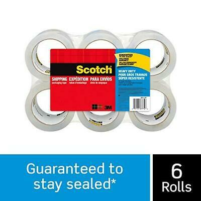 Scotch Brand Heavy Duty Shipping Packaging Tape Great For Packing 6 Rolls