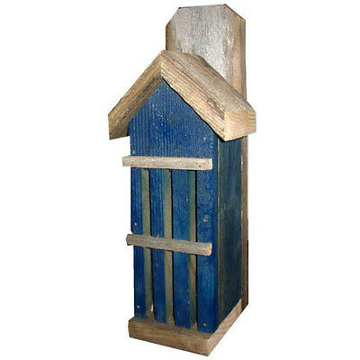 BLUE Rustic Butterfly House: Reclaimed Wood, Perfect Gift for Nature Lovers