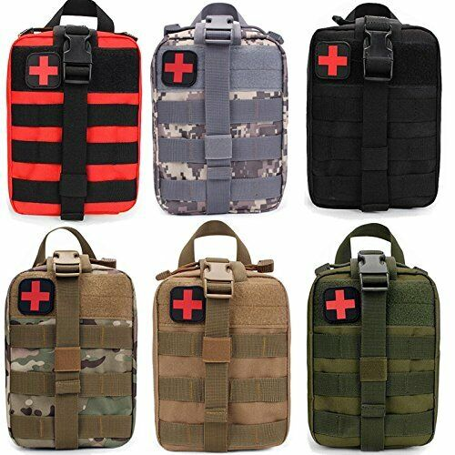 Best NEW OUTDOOR TACTICAL FIRST AID KIT BAG MEDICAL EMT EMERGENCY SURVIVAL POUCH MOLLE US