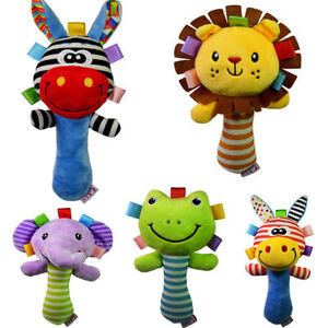 Bed Bell Developmental Toy Kids Newborn Baby Toy Animal Handbells Rattle Toy New