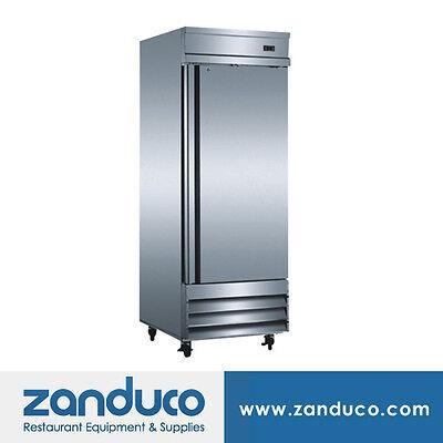 Zanduco 20.6 Cu. Ft. 29 Stainless Steel Single Door Reach-in Refrigerator