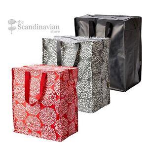 knalla reusable eco friendly zipper top shopping grocery holiday gift bag ikea ebay. Black Bedroom Furniture Sets. Home Design Ideas