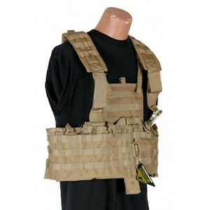 CONDOR-MOLLE-Modular-Nylon-Chest-Set-Tactical-Mag-Holder-Vest-Rig-cs-COYOTE-TAN