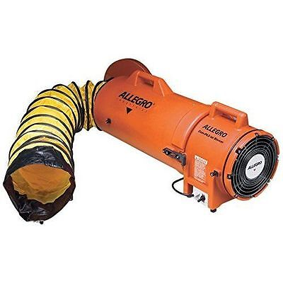 """Allegro 9533-25 Confined Space 8"""" Plastic Ventilation Blower with 25' Ducting"""