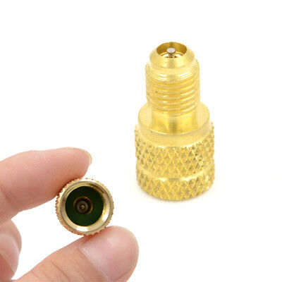 "ACME A/C R134a Brass Fitting Adapter 1/4"" Male To 1/2"" Female Valve Core ToolHh"