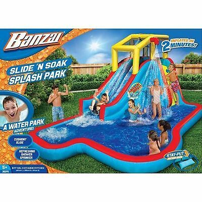 Banzai Slide N Soak Splash Park NEW IN BOX Inflatable