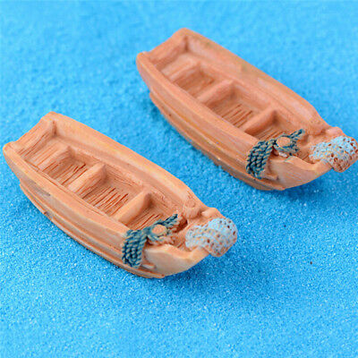 Fishing Boat Miniature Fairy Garden Home Decoration  DIY Accessories CH