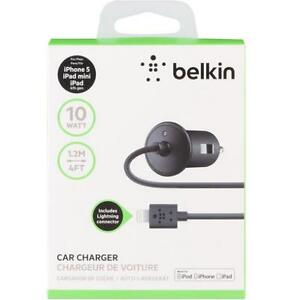 Brand New Belkin Car Charger for Apple iPhone 5 with Lightning Connector
