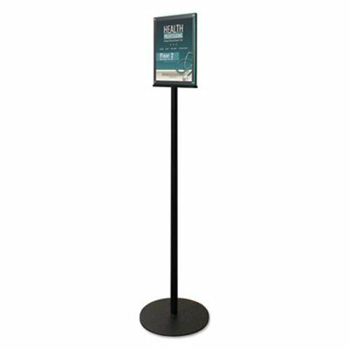 """Deflect-o Double-Sided Magnetic Sign Stand, 56"""" High, Silver (DEF692056)"""