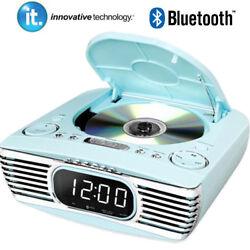 Innovative Tech Bedside Stereo CD Player FM Bluetooth Retro V50-250-TRQ Teal