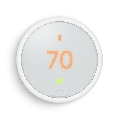 Nest Thermostat E, Smart Thermostat, White, Google T4000ES