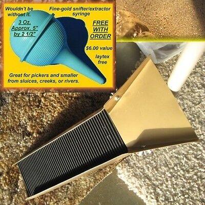 Golden Gold Sluice Box Prospecting Paydirt Sluicing Panning Mining Gold Sluice