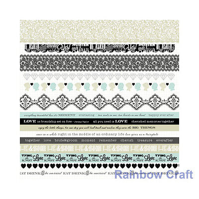 Kaisercraft 12x12 Sticker Sheet Collection Christmas theme 24 selections - Something Blue