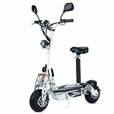 Patinete electrico 800w 40 km/h scooter patin sillin plataforma blanco garantia
