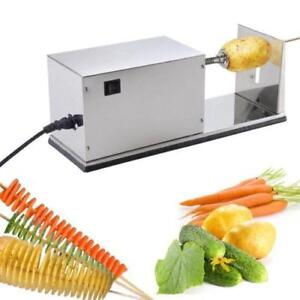 Automatic Electric Potato Tower Chips Slicer Twister Cutter 110v Vegetable  (Item# 181201)