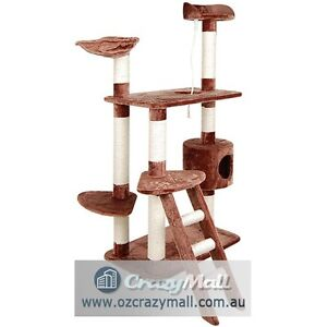 Cat Tree Kitten 158cm 6 Level Furniture House Brown or Grey Melbourne CBD Melbourne City Preview