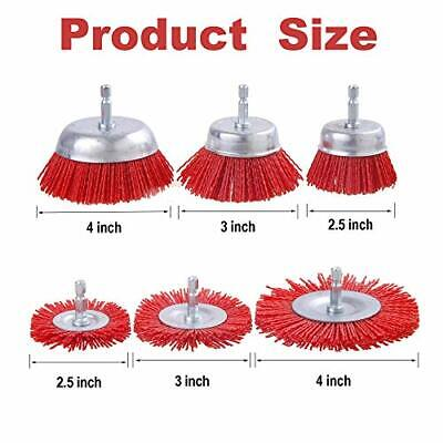 Rocaris 10 Pack Nylon Filament Abrasive Wire Brush Wheel Cup Brush Set With... - $48.00