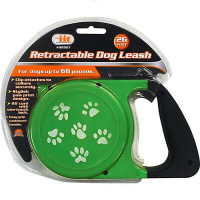RETRACTABLE DOG PET LEASH  UP TO 66 LBS 26' FEET ROPE CORD LEAD HEAVY DUTY