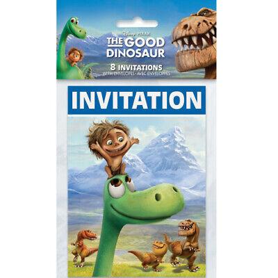 THE GOOD DINOSAUR INVITATIONS (8) ~Birthday Party Supplies Stationery Invites