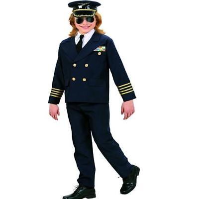 PILOT Kostüm Jungen  Karneval Faschingskostüm Gr. 158