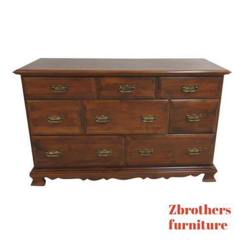 Vintage Maple Chippendale Carved Buffet Chest Dresser