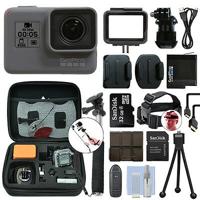 GoPro HERO5 Black Waterproof 4K Camera Camcorder + 32GB Accessory Kit