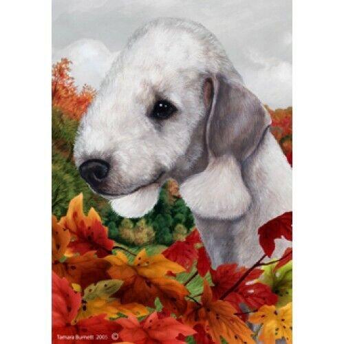 Fall House Flag - Bedlington Terrier 13132