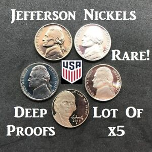 This is a RARE one-of-a-kind Deep Mirror Proof Jefferson Nickel