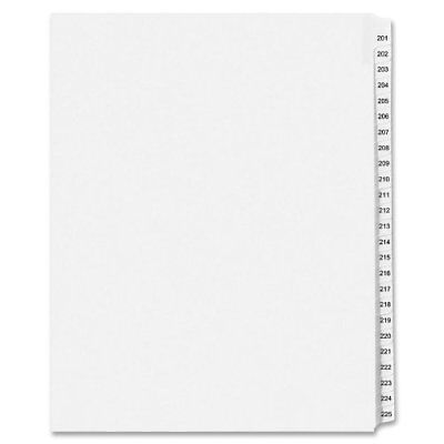 Avery Legal Exhibit Reference Divider - Printed201 - 225 - 25 (ave01338)