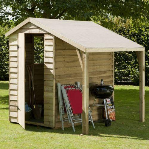Wooden garden sheds 6x4 ebay for Garden shed 6x4 sale