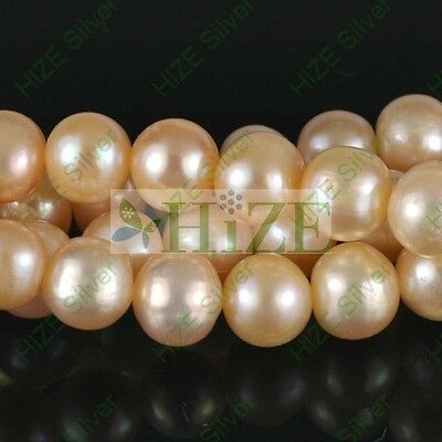 HIZE GFP13 NATURAL FRESHWATER PEARL Pink Potato Beads 8mm -15""
