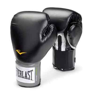 Everlast Pro Style Black Training Boxing Sparring Fighting Fitness Gloves 14 oz