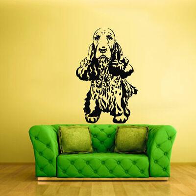 Wall Vinyl Sticker Bedroom Decal Spaniel Dog Animal (Z2124)