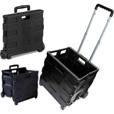 35kg Folding Shopping Trolley Wheeled Luggage Storage Cart Foldable Boot Box