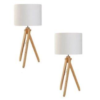 BRAND NEW Set of 2 Helsinki Table Lamps Scandinavian by Amalfi RR