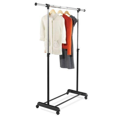 portable clothes rack ebay. Black Bedroom Furniture Sets. Home Design Ideas