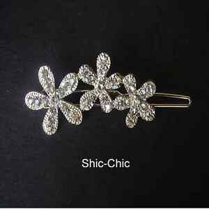 Shic-Chic-Crystal-Hairpin-Diamond-Accessories-Flower-Clip-Hair-Slide-Diamante