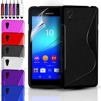 S-LINE SILICONE GEL CASE COVER & FREE SCREEN PROTECTOR FOR SONY EXPERIA Z3+ PLUS Cover Free Screen