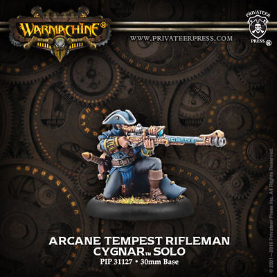 Warmachine: Cygnar Arcane Tempest Rifleman Solo PIP 31127 Privateer Press NEW
