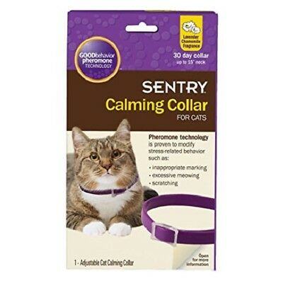 "Sentry Calming Collar for Cats up to 15"" Neck 1 Collar Lavender Chamomile"